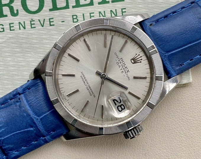 Rolex Oysterdate 1501 Perpetual 1973 Mens used vintage watch Full Set Papers Box