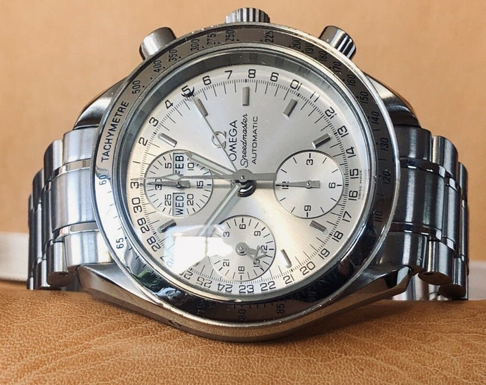 Omega Speedmaster Reduced 38mm Silver Dial Men's Automatic Triple date watch