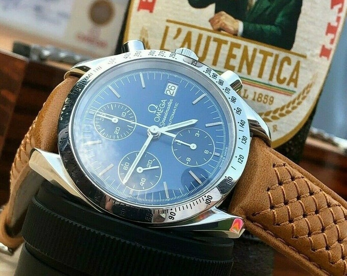 Omega Speedmaster 1998 Blue Dial Men's 38mm reduced Automatic Caliber 1152 watch + New Box
