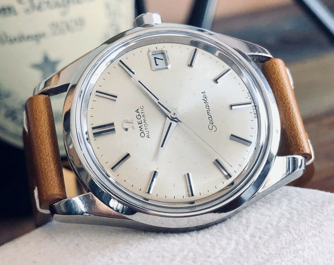 Omega Seamaster Stainless Steel Mens 1968 rare 34mm Serviced April 2020 Vintage watch + New Box