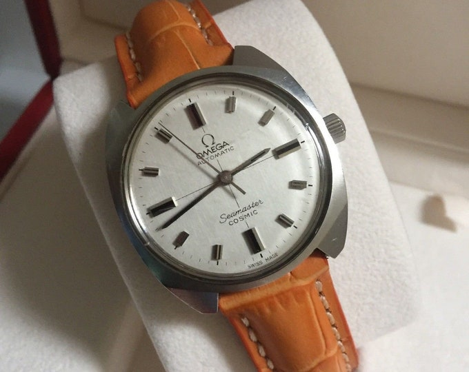 Omega Men's Vintage 1966 Mens Automatic Seamaster Cosmic Steel gents Watch CAL 552 24 jewels + Box