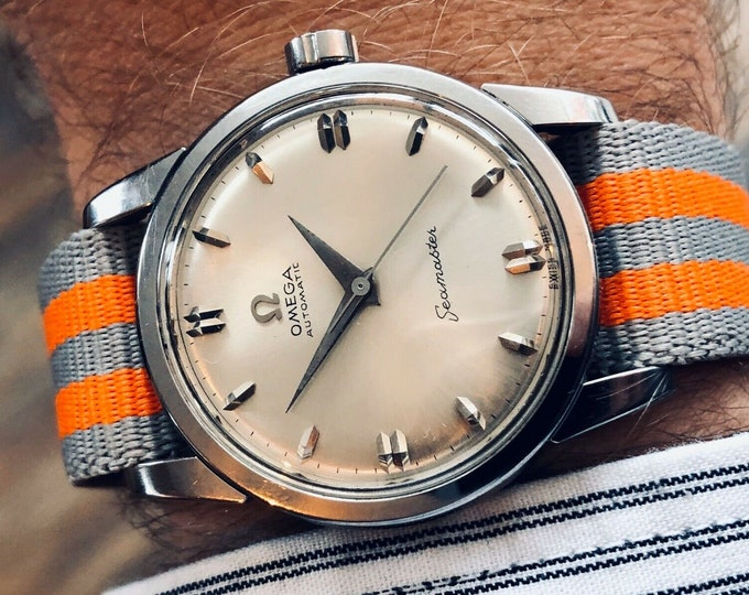 Omega Automatic Seamaster 1950s Mens Vintage Steel watch | Service Card Feb 2020