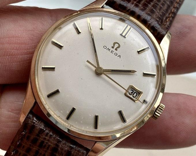 Omega 18K Gold Capped Mens Vintage 1961 Mechanical Hand Winding Caliber 610 Antique watch