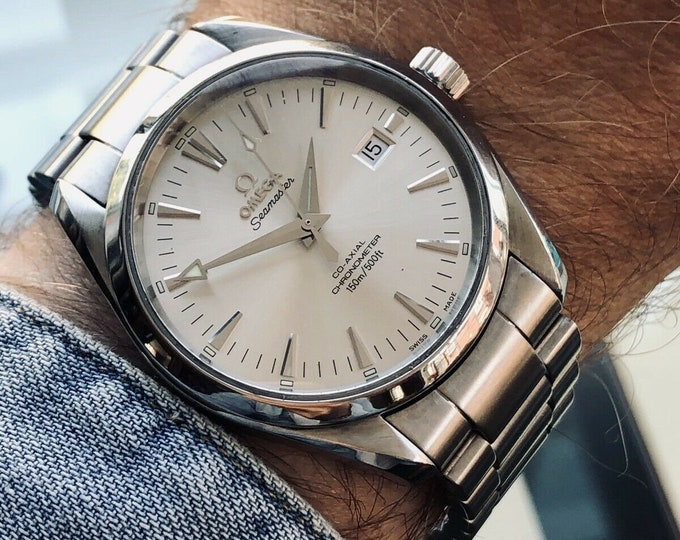 Omega Seamaster Aqua Terra Co-Axial Automatic Men's 150M 39mm Steel Watch + Box