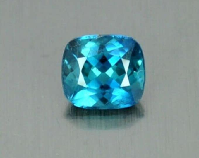 1.60Ct FLAWLESS Blue Cushion cut Tourmaline Gemstone 6.5mm x 6mm x5mm paraiba