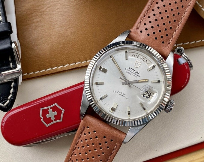Tudor Ref 7020/0 Prince Oyster Date Automatic 18K Gold Bezel vintage 1969 watch + Box