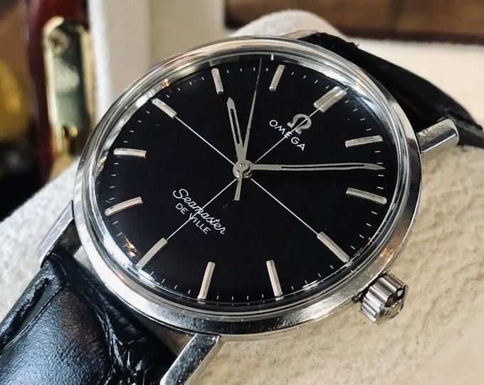 Omega Seamaster Don Draper 600 Crosshair Black Dial Mens Steel 1960 watch + Box