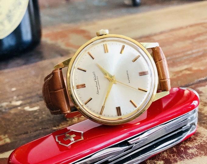 International Watch Company IWC Vintage Mens dress Automatic 36mm Gold watch