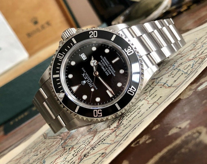 Rolex 16600 Sea Dweller 4000 Submariner Steel Mens watch 2001 Box Papers Full Set