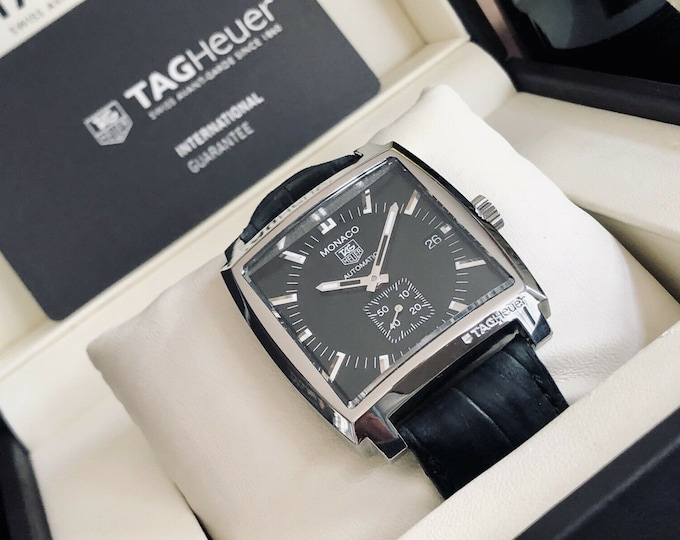 Tag Heuer Carrera Monaco Calibre 6 Automatic steel 2015 Full Set Papers watch