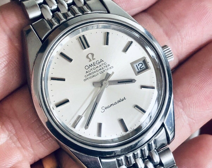 Omega Seamaster Beads Of Rice Bracelet Mens Vintage 1971 Automatic Steel watch