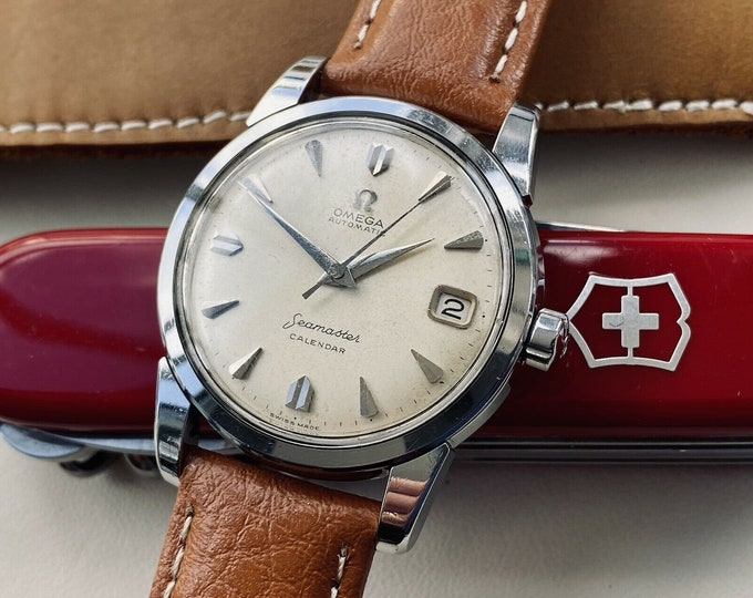 Omega Seamaster Calendar Date Automatic Steel Mens Vintage 1959 swiss made used watch Ref 2849