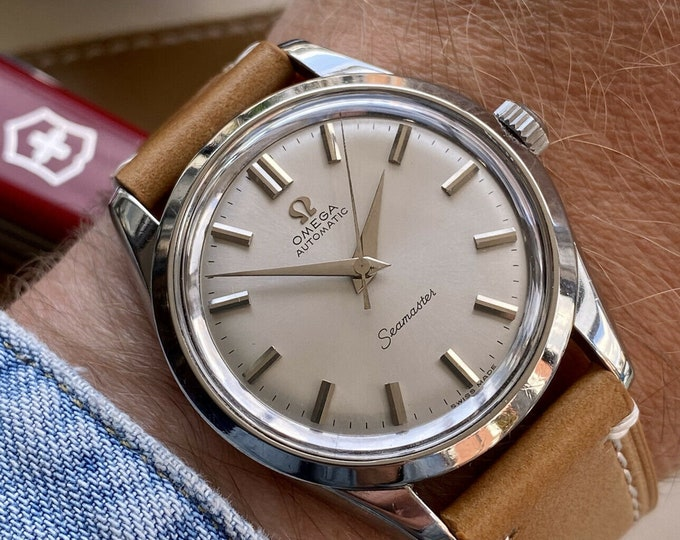 Omega stunning 1958 Seamaster Steel Mens Date Automatic 501 serviced May 2021 Vintage watch