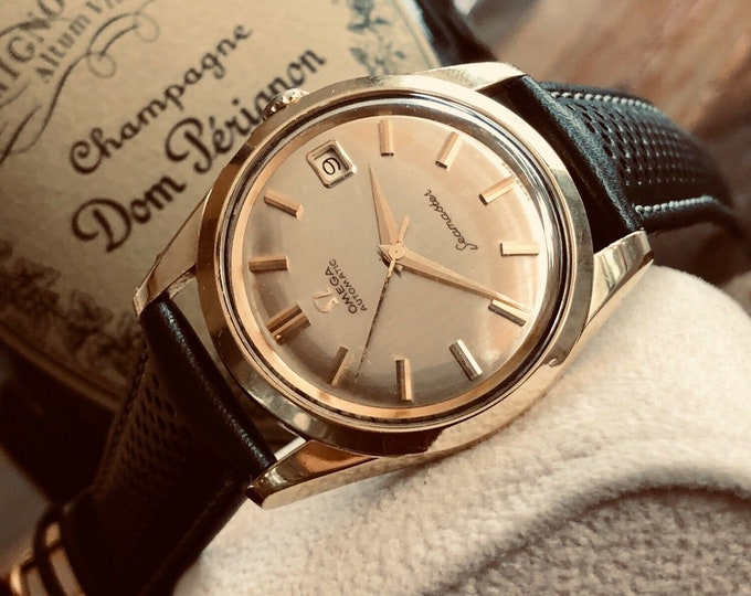 Omega Seamaster 14K Gold Capped & steel Automatic 1961 vintage Mens watch