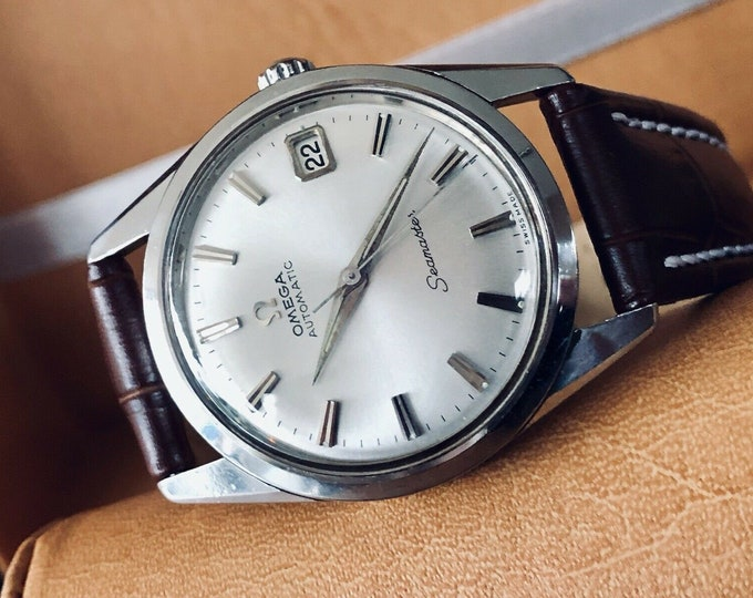 OMEGA Steel Seamaster Dial Automatic Mens vintage 1961 watch + New Box + Nato