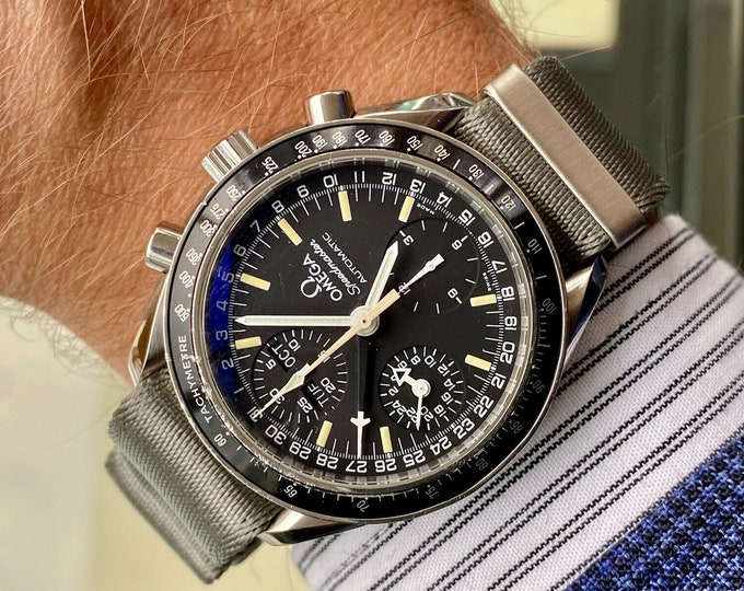 Omega Speedmaster Mark 40 Men's Black Dial Triple Date Automatic M40 watch + Box