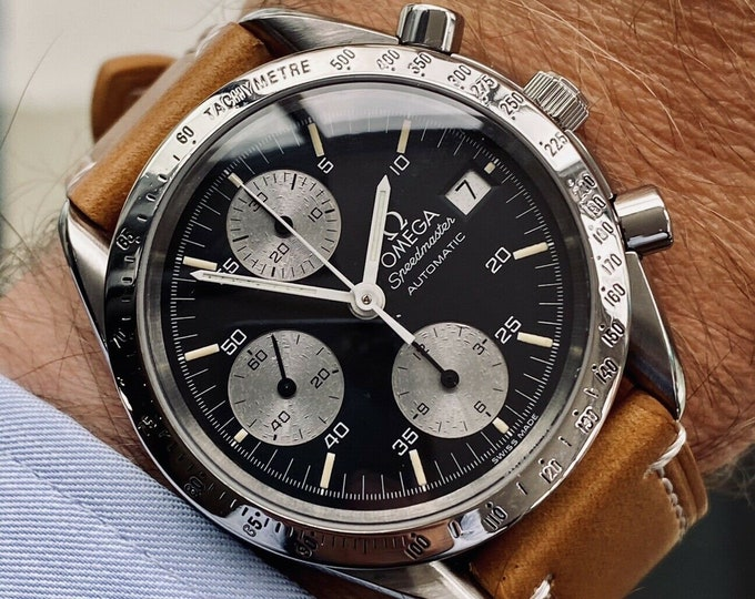 Omega Speedmaster Black Reverse Panda Dial Men's reduced Automatic 1998 watch + Box