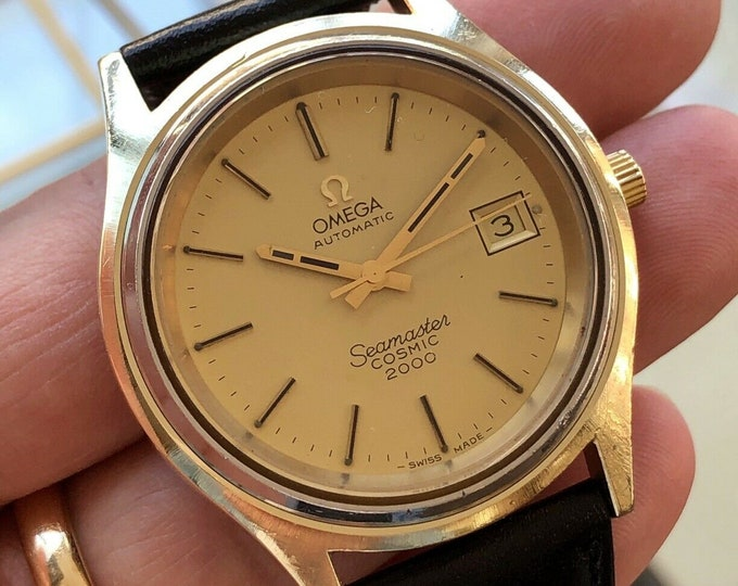 Omega Seamaster Cosmic 2000 Mens Vintage Jumbo 38mm Automatic Gold 1973 watch