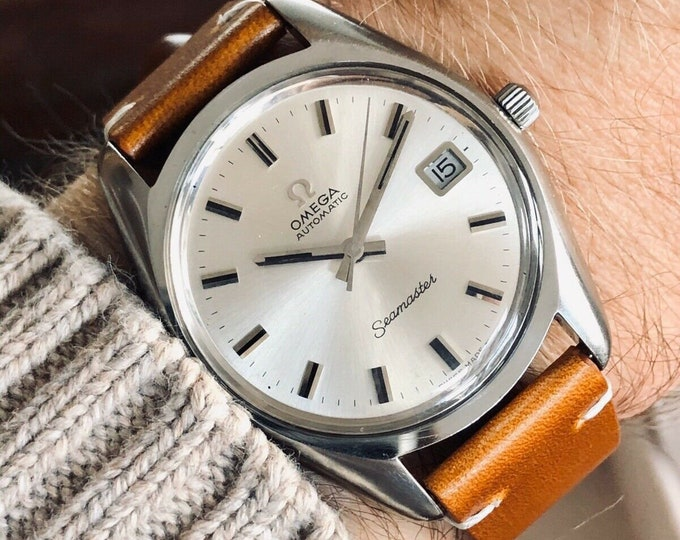 Omega Seamaster Stainless Steel Mens Vintage 1972 Automatic watch in stunning condition + New Box