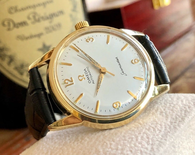 Omega Seamaster Serviced March 2002 Gold Capped & steel Automatic 1963 vintage watch