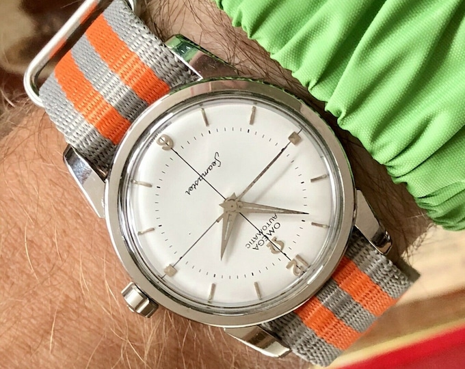 Omega Automatic Seamaster Steel 1956 Caliber 500 Mens Vintage Steel watch + Original Papers