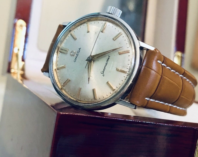 OMEGA Vintage 1967 Mens Unisex Seamaster Mechanical Hand Winding Unisex 32.2mm Stainless Steel Watch CAL 613 + Box