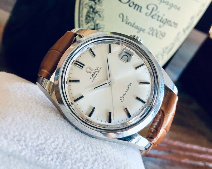 Omega Seamaster Stainless Steel Mens Vintage 1968 used second hand watch + Box
