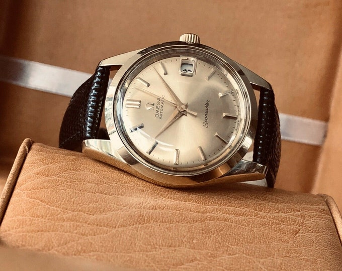 Omega Seamaster Gold Capped Vintage 1963 mens automatic caliber 562 watch + Box