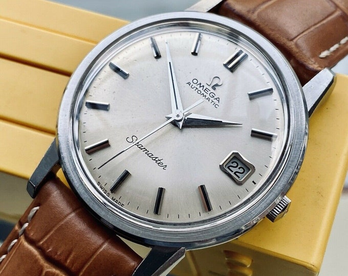 Omega Seamaster Stainless Steel Men Vintage 1967 Automatic Caliber 565 Date Calendar serviced July 2021 used watch