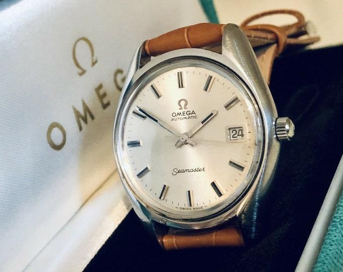 Omega Mens Seamaster vintage Watch CAL 1010 Automatic 1960s extra Nato strap + Box