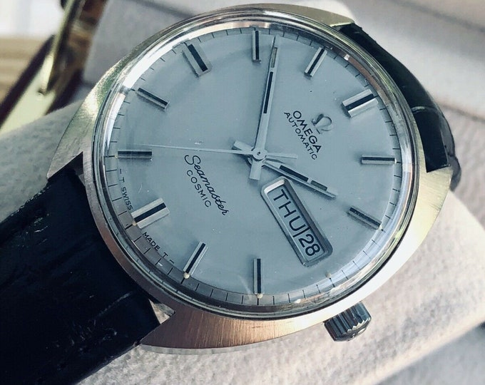 Omega 1967 vintage Seamaster Day Date Complication steel Automatic stainless steel watch + Box