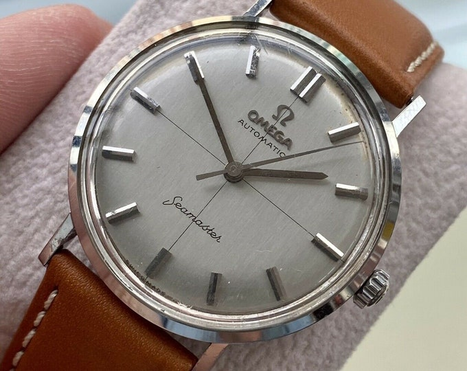 Omega Seamaster 1960s Crosshair Dial Steel Men Vintage Automatic 1960s watch