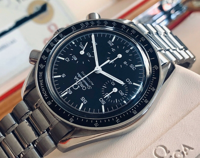 Omega Speedmaster 1999 Black Dial Men's reduced 38mm Automatic Full Set Card / Papers + Box
