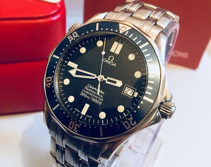 Omega Seamaster Professional Automatic Cal 1120 300m Full Size 41mm James Bond 007 Watch 168.1623 + Box + Nato