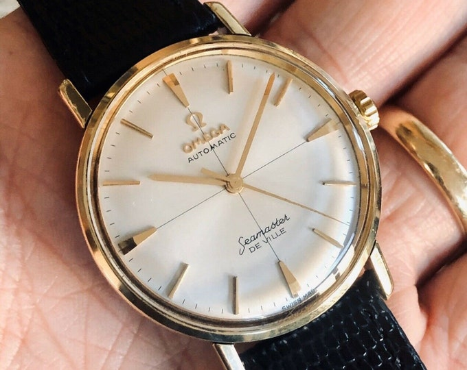 Omega Seamaster De Ville Gold Capped Crosshair Automatic 1960 - 1969 vintage watch