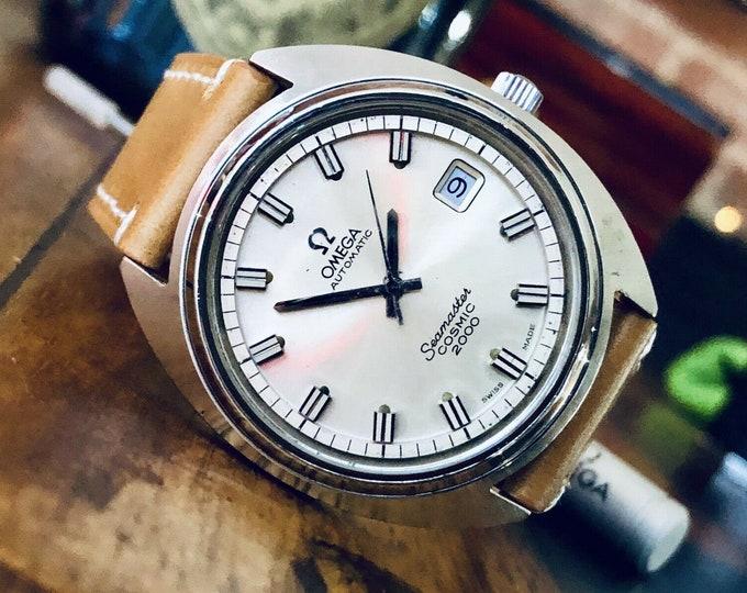 Omega Seamaster Cosmic 2000 Vintage Jumbo Steel Mens Automatic 37mm watch