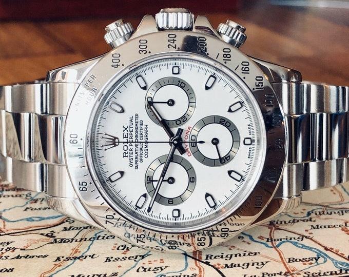 Rolex Daytona 2002 116520 Stainless Steel bracelet Serviced Jan 2020 Mens watch