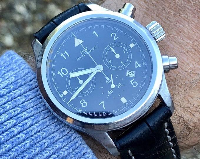 IWC Pilot Men's Watch Pilot's Watch Chronograph Megaquartz Sapphire IW3741-01 (aka: 3741-01, IW374101) Ref 3741 + Box