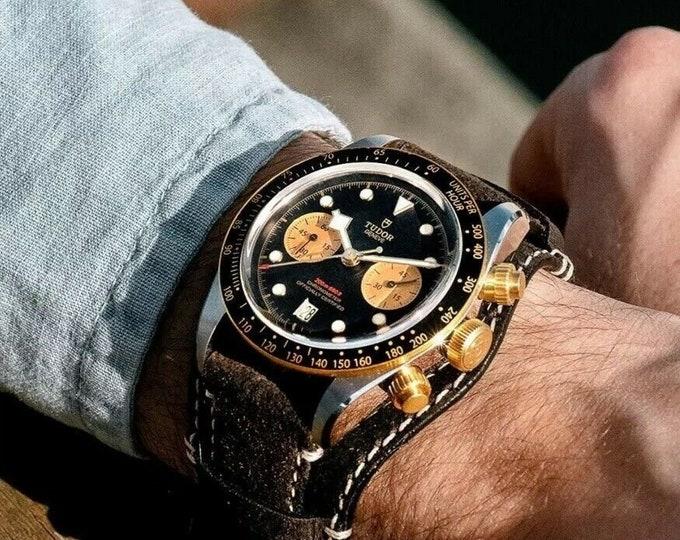 Tudor Black Bay Chronograph S&G 79363N Bund Strap Mens Full Set Automatic watch