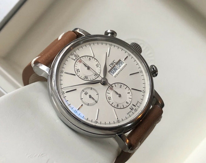 IWC Portofino Chronograph IW3910-07 Automatic Caliber 75320 White Dial Men watch
