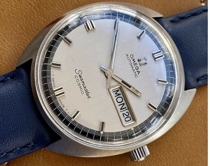 Omega Seamaster Cosmic Steel Date Day Mens Vintage Automatic Date serviced May 2021 watch