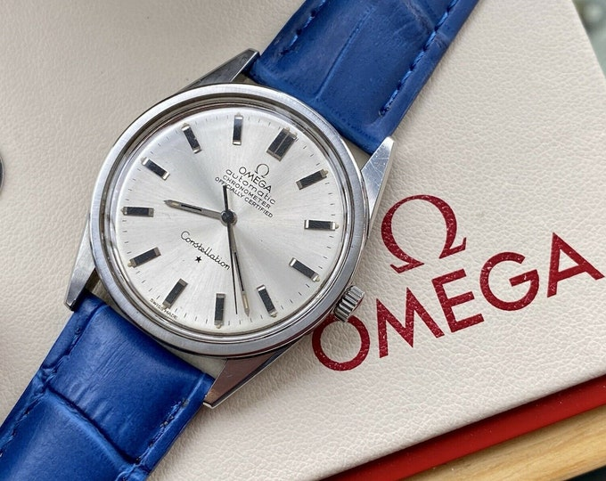 Omega Constellation Automatic Chronometer vintage Steel 33.5mm mens 1968 watch + Red Box