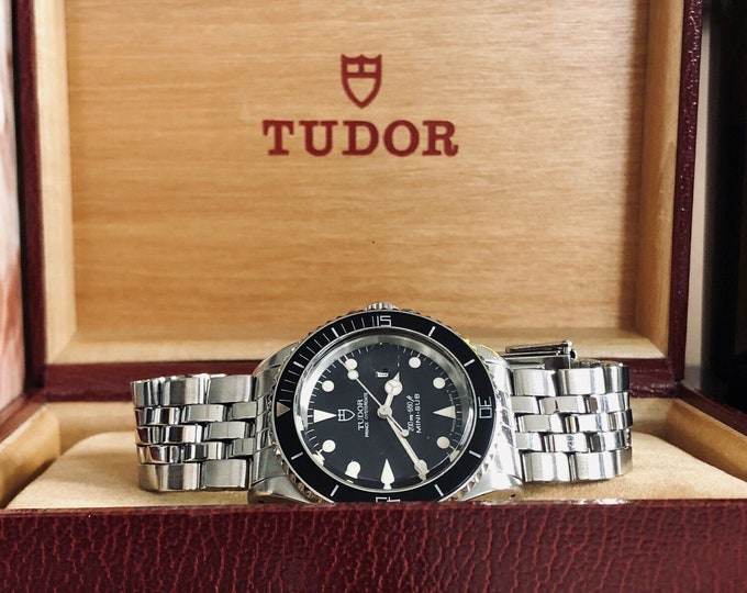 Tudor Mini Sub Submariner Full Set Rolex semi vintage 1992 Steel papers Watch box papers Serviced June 2020