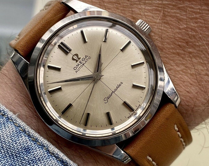 Omega Seamaster Crosshair Dial Automatic Steel Mens Vintage 1966 Swiss second hand used watch