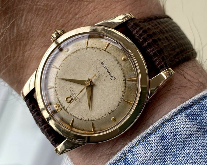 Omega Seamaster Bumper Automatic Caliber 351 Gold Capped Steel Mens Vintage 1952 watch