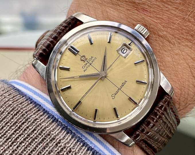 Omega stunning 1965 Seamaster Steel Mens Date Automatic serviced May 2021 Vintage watch