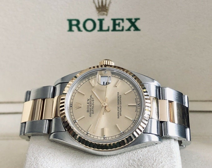Rolex 31 Datejust 18K Gold & Steel Datejust Women's 31mm semy vintage Automatic Perpetual 1990s Watch + Box