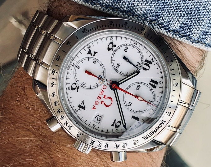 Omega Speedmaster Olympic 2006 Torino Turin Dial Men's Automatic watch + Box