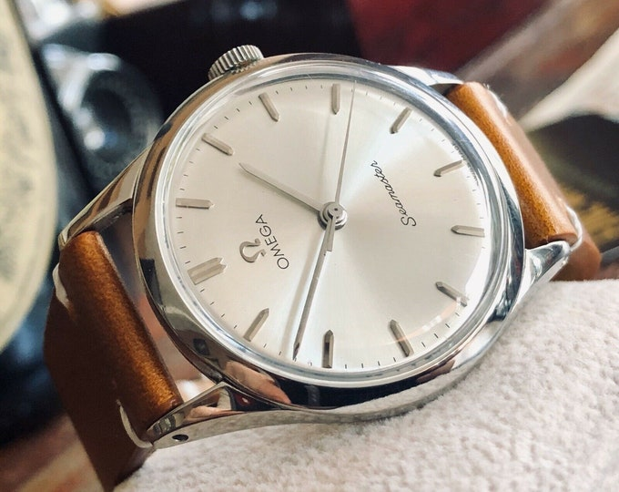 Omega Seamaster Caliber 286 Stainless Steel Mens Vintage 1963 watch in stunning condition + Box