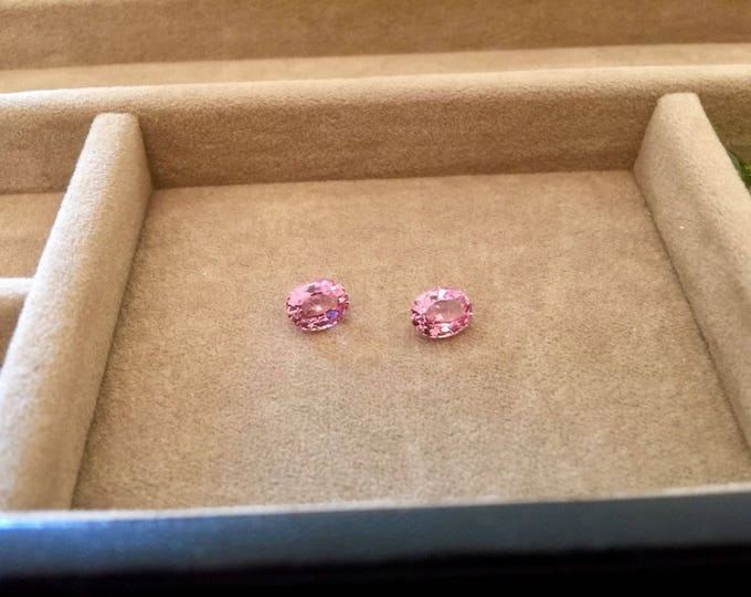 2.80 TCW IF PAIR of Vivid Pink 100% Natural Spinel - Flawless gemstones